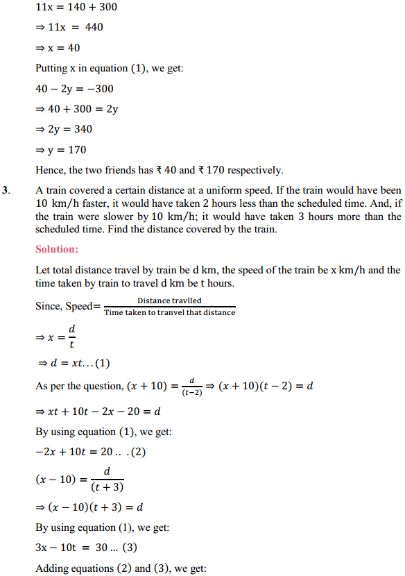 NCERT Solutions for Class 10 Maths Chapter 3 Pair of Linear Equations in Two Variables Ex 3.7 3