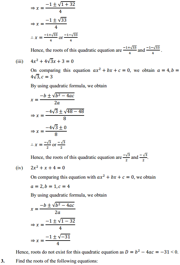 NCERT Solutions for Class 10 Maths Chapter 4 Quadratic Equations Ex 4.3 5