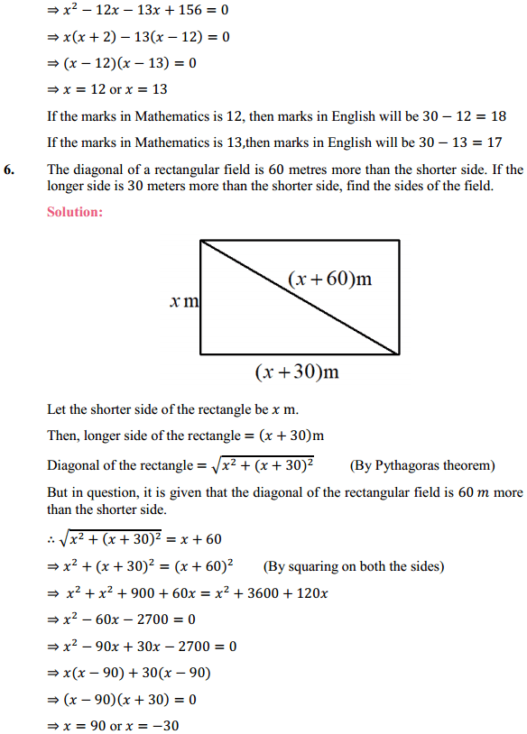 NCERT Solutions for Class 10 Maths Chapter 4 Quadratic Equations Ex 4.3 8
