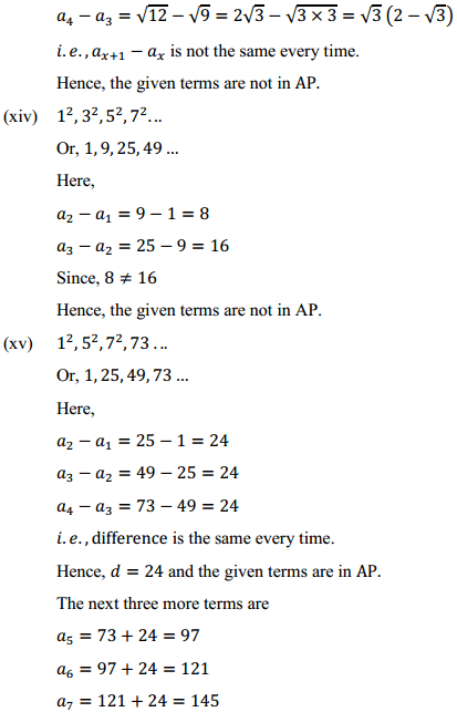 NCERT Solutions for Class 10 Maths Chapter 5 Arithmetic Progressions Ex 5.1 10