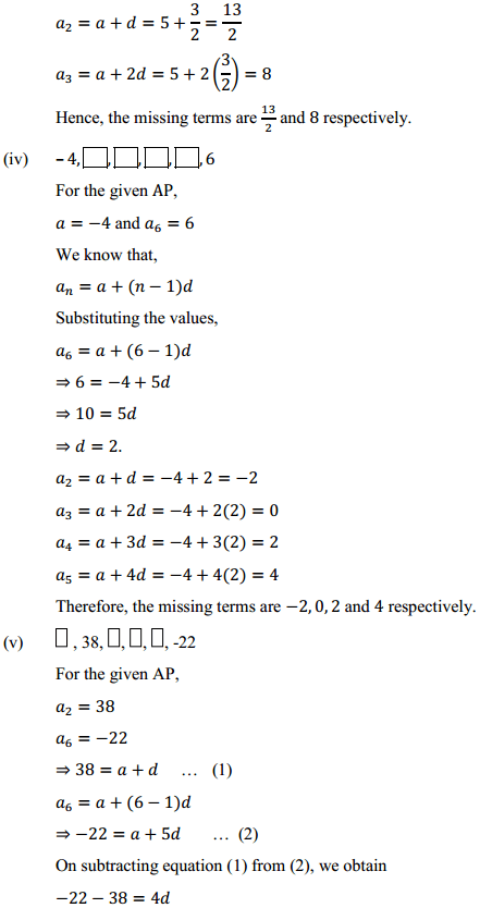 NCERT Solutions for Class 10 Maths Chapter 5 Arithmetic Progressions Ex 5.2 7