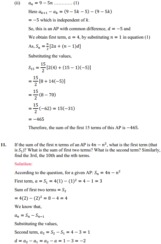 NCERT Solutions for Class 10 Maths Chapter 5 Arithmetic Progressions Ex 5.3 18