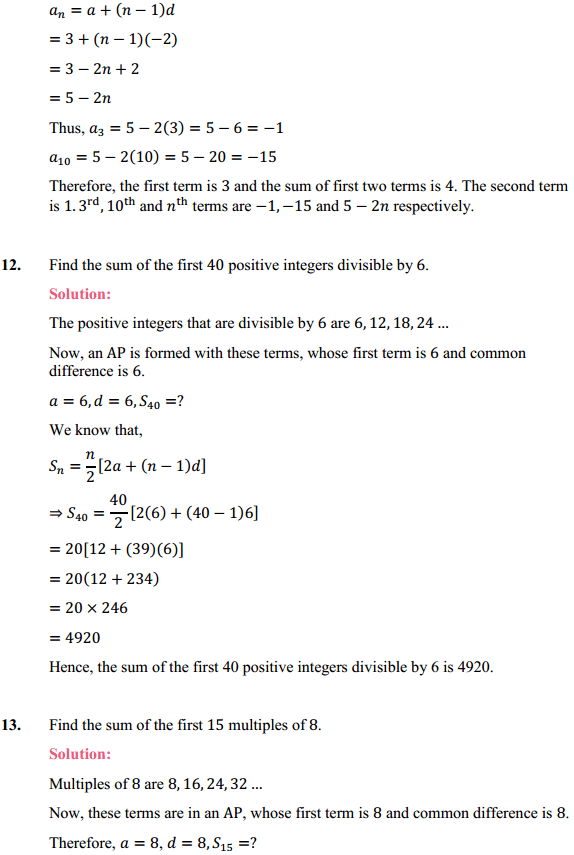 NCERT Solutions for Class 10 Maths Chapter 5 Arithmetic Progressions Ex 5.3 19