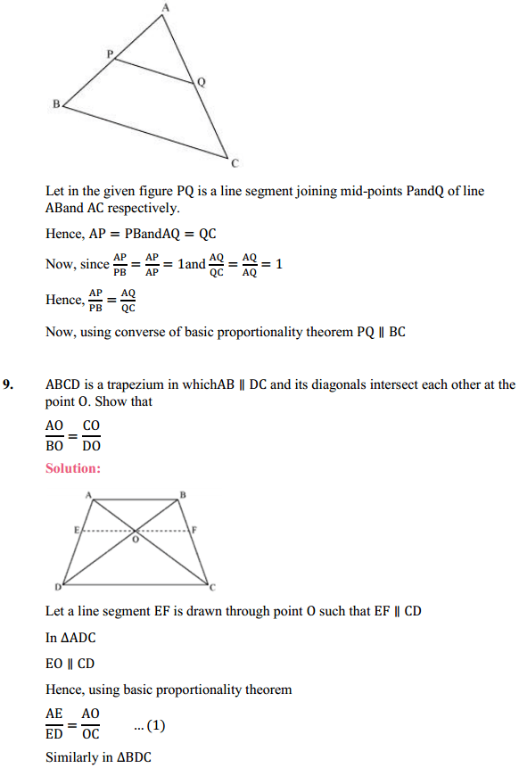 NCERT Solutions for Class 10 Maths Chapter 6 Triangles Ex 6.2 11