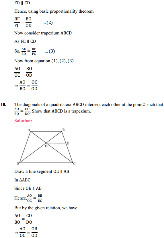 NCERT Solutions for Class 10 Maths Chapter 6 Triangles Ex 6.2 12