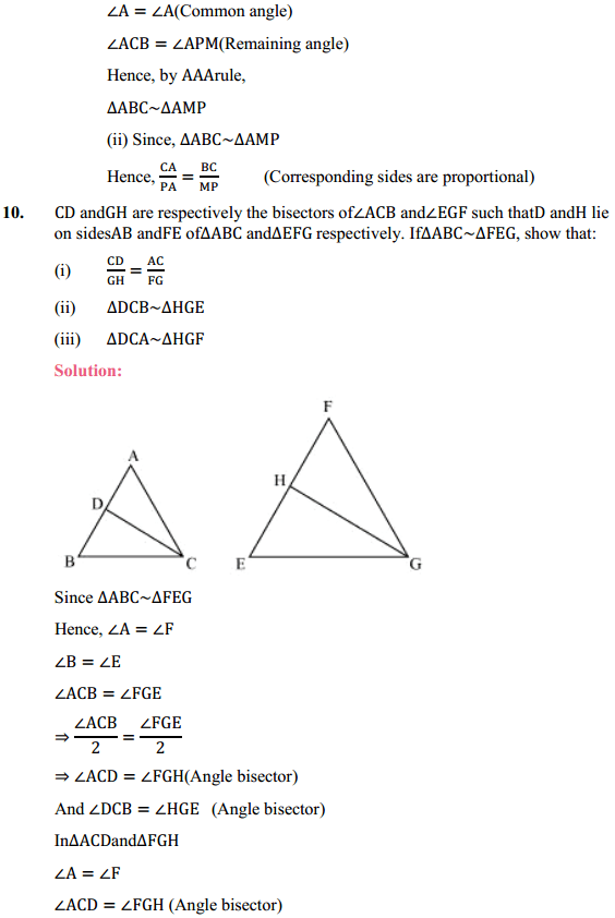 NCERT Solutions for Class 10 Maths Chapter 6 Triangles Ex 6.3 10