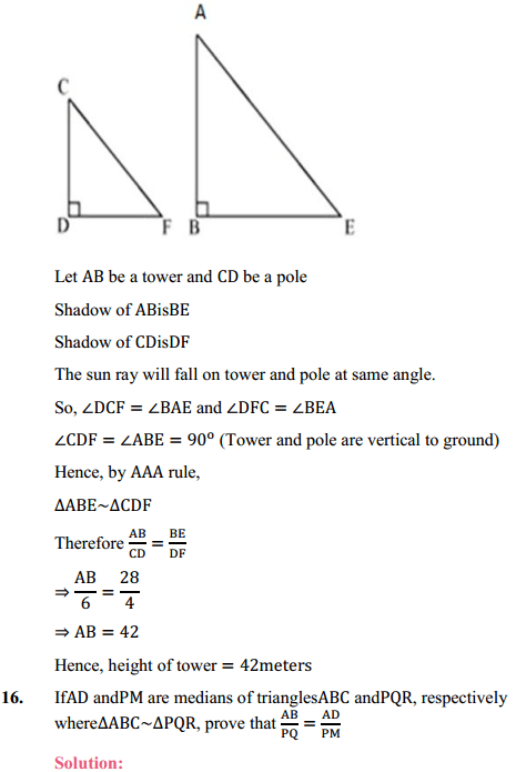 NCERT Solutions for Class 10 Maths Chapter 6 Triangles Ex 6.3 15