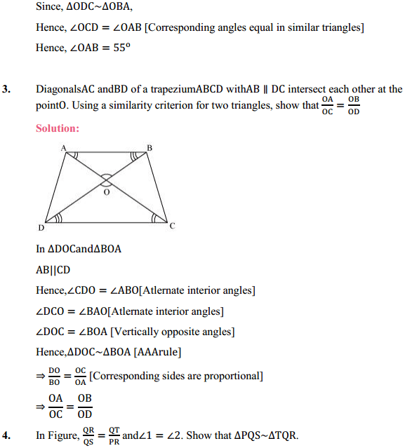 NCERT Solutions for Class 10 Maths Chapter 6 Triangles Ex 6.3 4