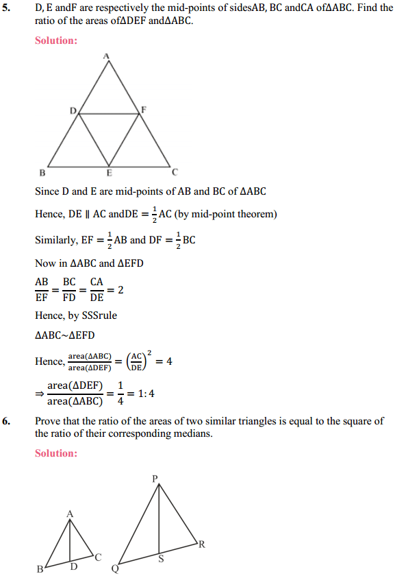 NCERT Solutions for Class 10 Maths Chapter 6 Triangles Ex 6.4 4