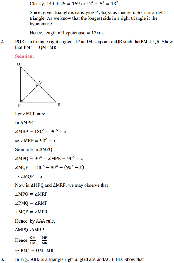 NCERT Solutions for Class 10 Maths Chapter 6 Triangles Ex 6.5 2