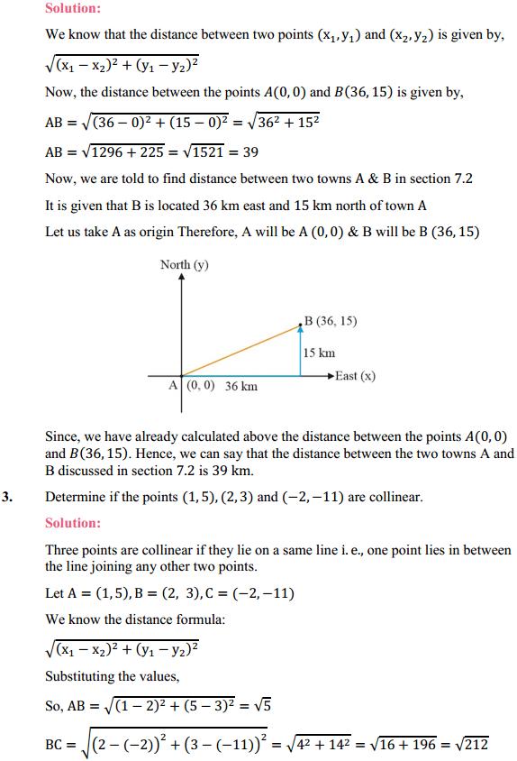 NCERT Solutions for Class 10 Maths Chapter 7 Coordinate Geometry Ex 7.1 2