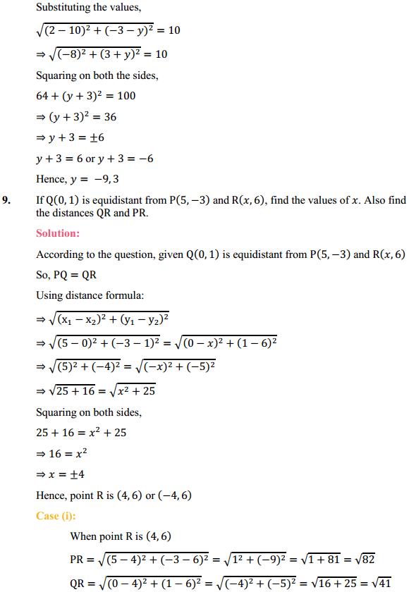NCERT Solutions for Class 10 Maths Chapter 7 Coordinate Geometry Ex 7.1 7