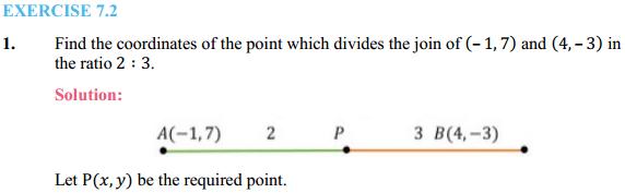 NCERT Solutions for Class 10 Maths Chapter 7 Coordinate Geometry Ex 7.2 1