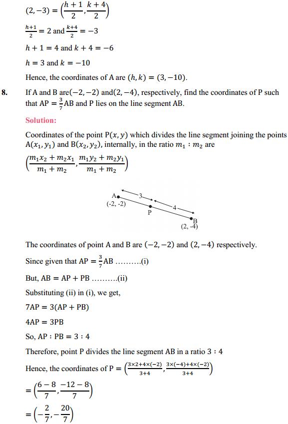 NCERT Solutions for Class 10 Maths Chapter 7 Coordinate Geometry Ex 7.2 7