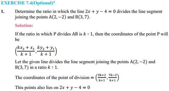 NCERT Solutions for Class 10 Maths Chapter 7 Coordinate Geometry Ex 7.4 1
