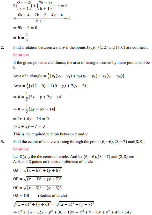 NCERT Solutions for Class 10 Maths Chapter 7 Coordinate Geometry Ex 7.4 2
