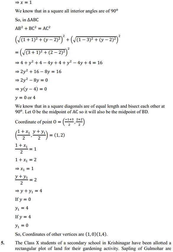 NCERT Solutions for Class 10 Maths Chapter 7 Coordinate Geometry Ex 7.4 4