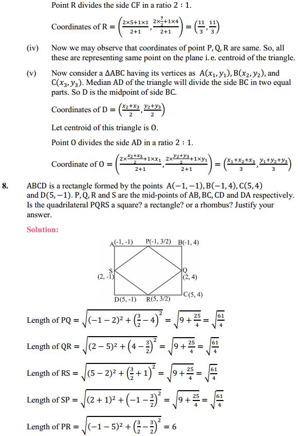 NCERT Solutions for Class 10 Maths Chapter 7 Coordinate Geometry Ex 7.4 8