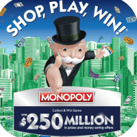 shopplaywin.com enter code - Safeway Monopoly 2019 Gameboard