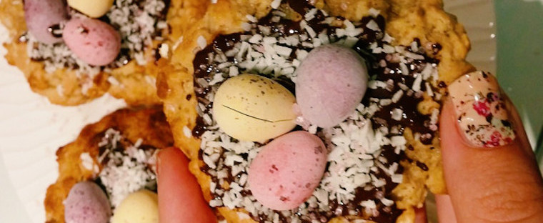 Chocolate Coconut Oatmeal Nest Cookies