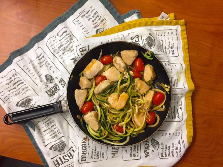 Gluten-Free Zoodle Bruschetta with Chicken