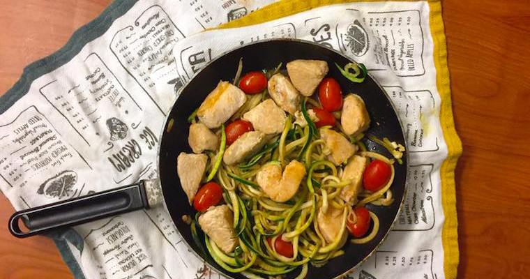 Gluten-Free Zoodle Bruschetta with Chicken