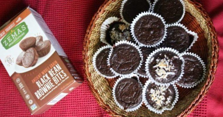 Healthy Vegan Chocolate Brownie Bites