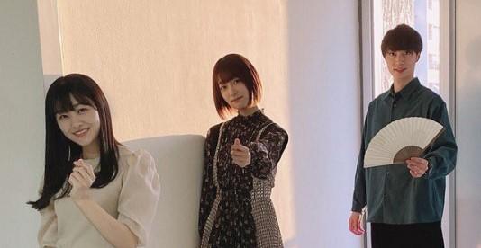 ゆうパラに出演した原田葵(左)と井上梨名