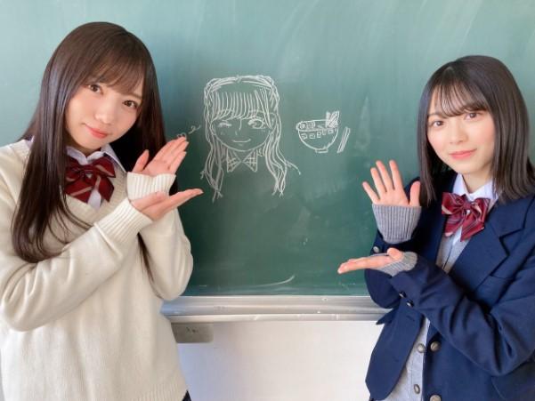 「ボーダレス」で共演する森田ひかる(右)と斎藤京子