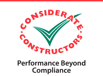 Performance Beyond Compliance Certificate received from Considerate Contractors Scheme