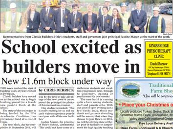 Hele School – New £1.6m block underway