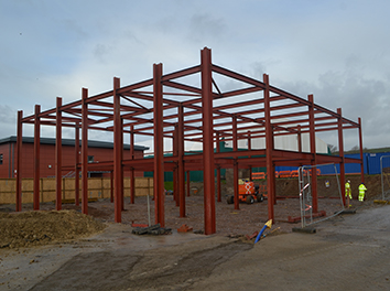 Hele School Post 16 Building Progress