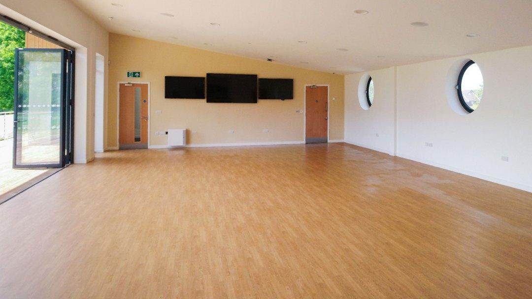 Inside New Community Sports Building