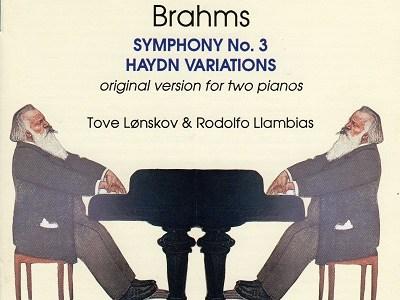 レンスコウ&ラムビアスのブラームス交響曲第3番(2台ピアノ版)(1992.9録音)を聴いて思ふ