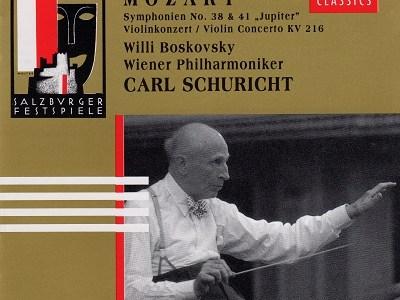 シューリヒト指揮ウィーン・フィルのモーツァルト「ジュピター」(1960.8Live)ほかを聴いて思ふ