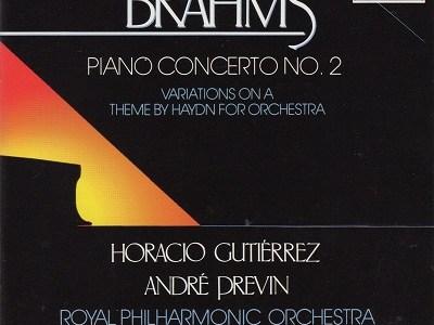 グティエレス プレヴィン指揮ロイヤル・フィル ブラームス ピアノ協奏曲第2番(1988.7録音)を聴いて思ふ