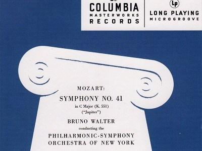 ワルター指揮ニューヨーク・フィル モーツァルト 交響曲第38番「プラハ」K.504(1954.12.6録音)ほか
