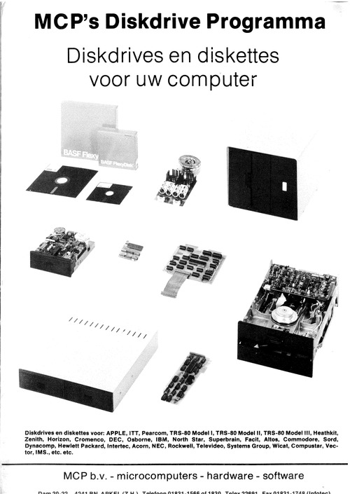 MCP's Diskdrive Programma