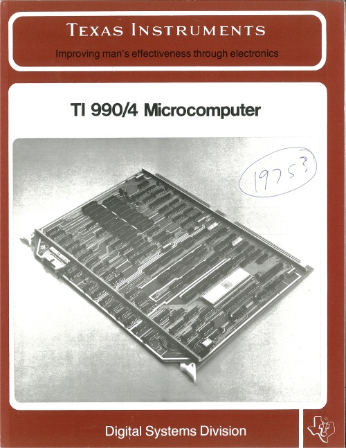 Texas Instruments TI 990/4 Microcomputer
