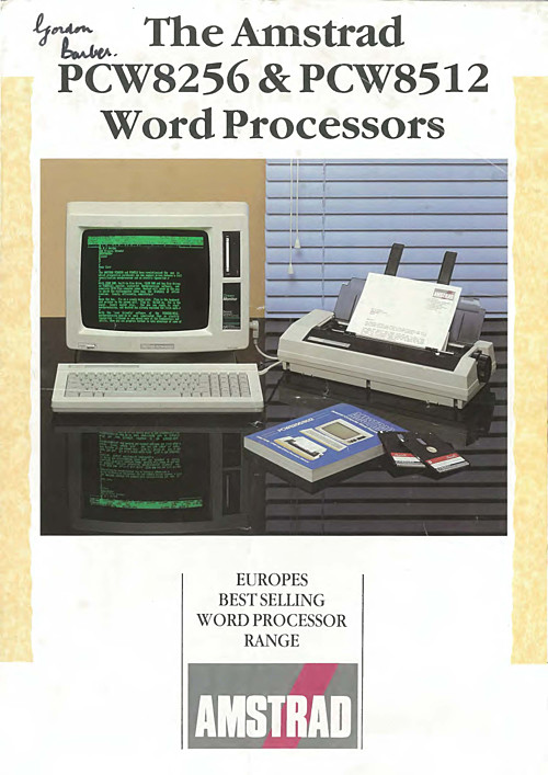 The Amstrad PCW8256 & PCW8512 Word Processors