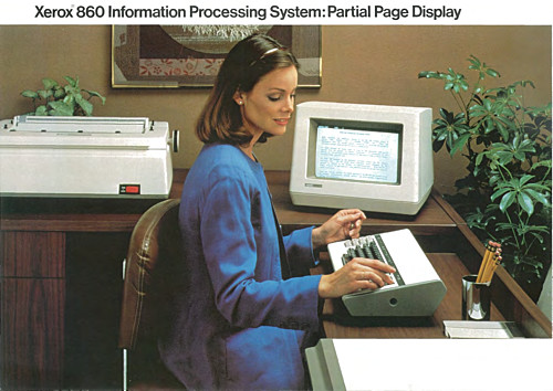 Xerox 860 Partial Page Display