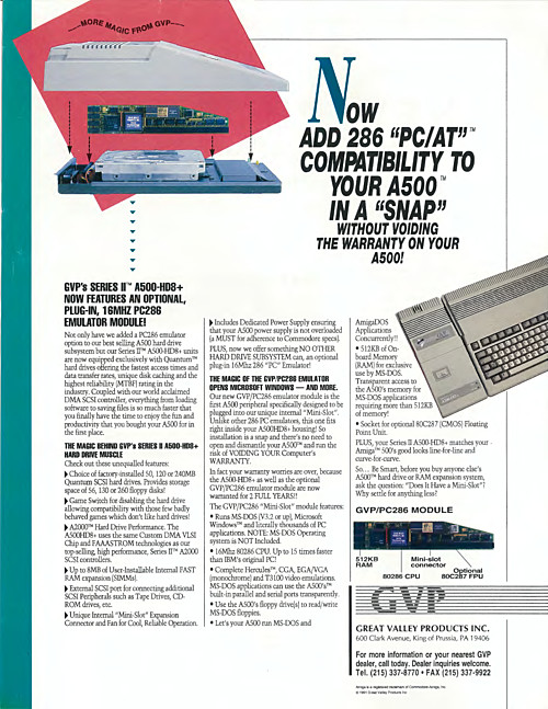 GVP PC286 Emulator Module