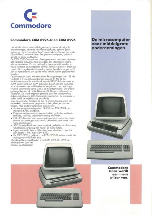 Commodore CBM 8296-D en CBM 8296