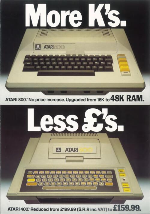 Atari 400 / 800, More K's, Less £'s