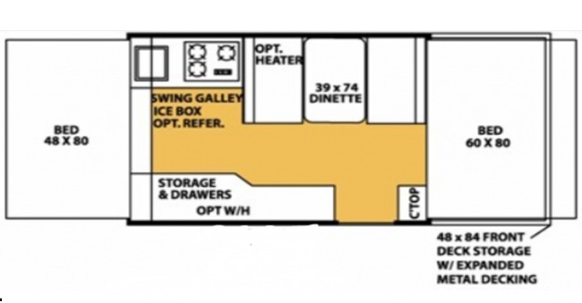 #2 Tent Trailer Floorplan