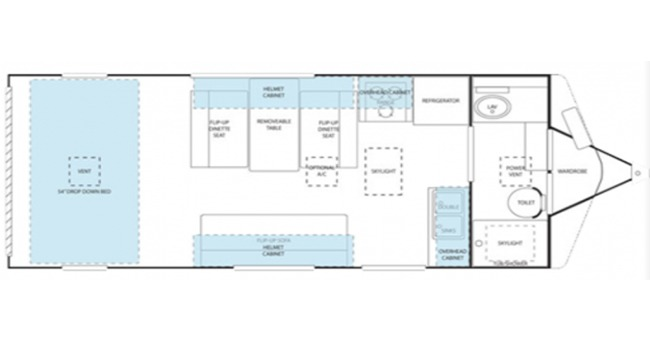 Toy Hauler #1 Floorplan