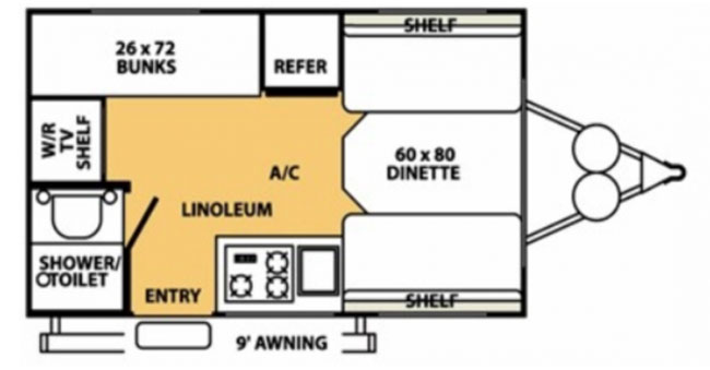 #3 Micro Lite Trailer Floorplan