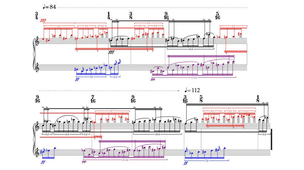 Excerpt from Mráz (2017) for piano - Trevor Bača