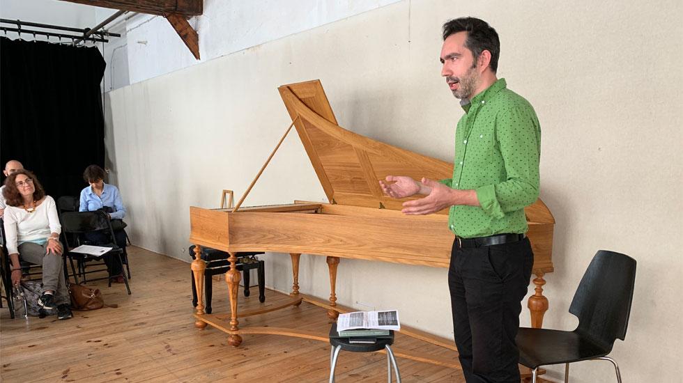 Le claveciniste Philippe Grisvard