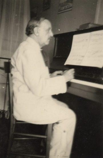 Vierne à Menton en 1930